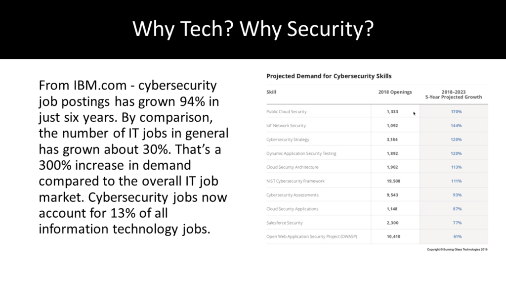 Why Tech? Why Security?